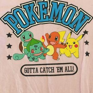Pink Pokémon youth unisex T-shirt XL